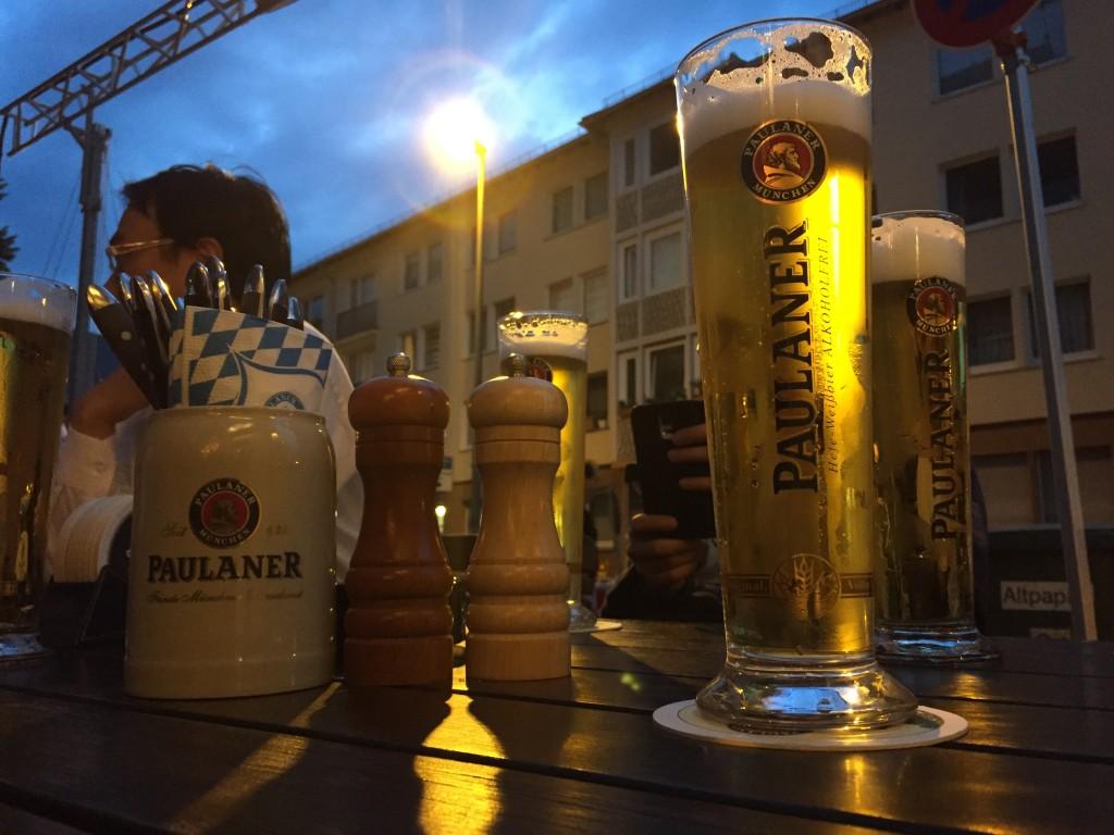 ドイツ初日のビールは「PAULANER」