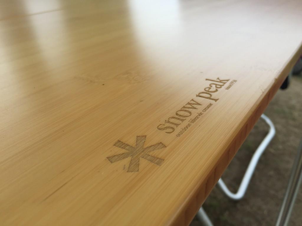 テーブルや椅子はスノーピーク(おしゃれ!)