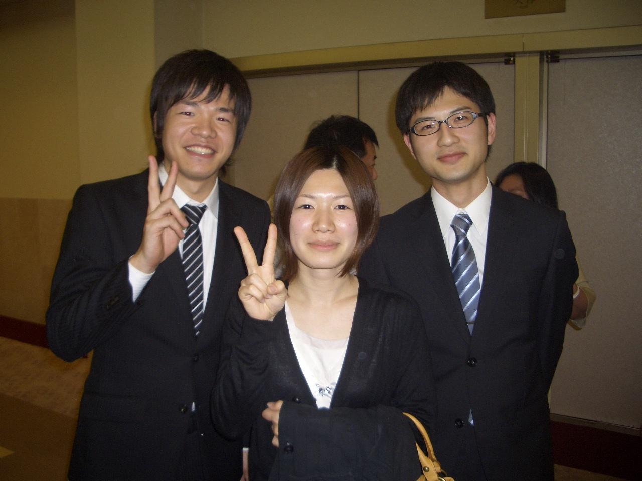 入社時の同期は3人でした。
