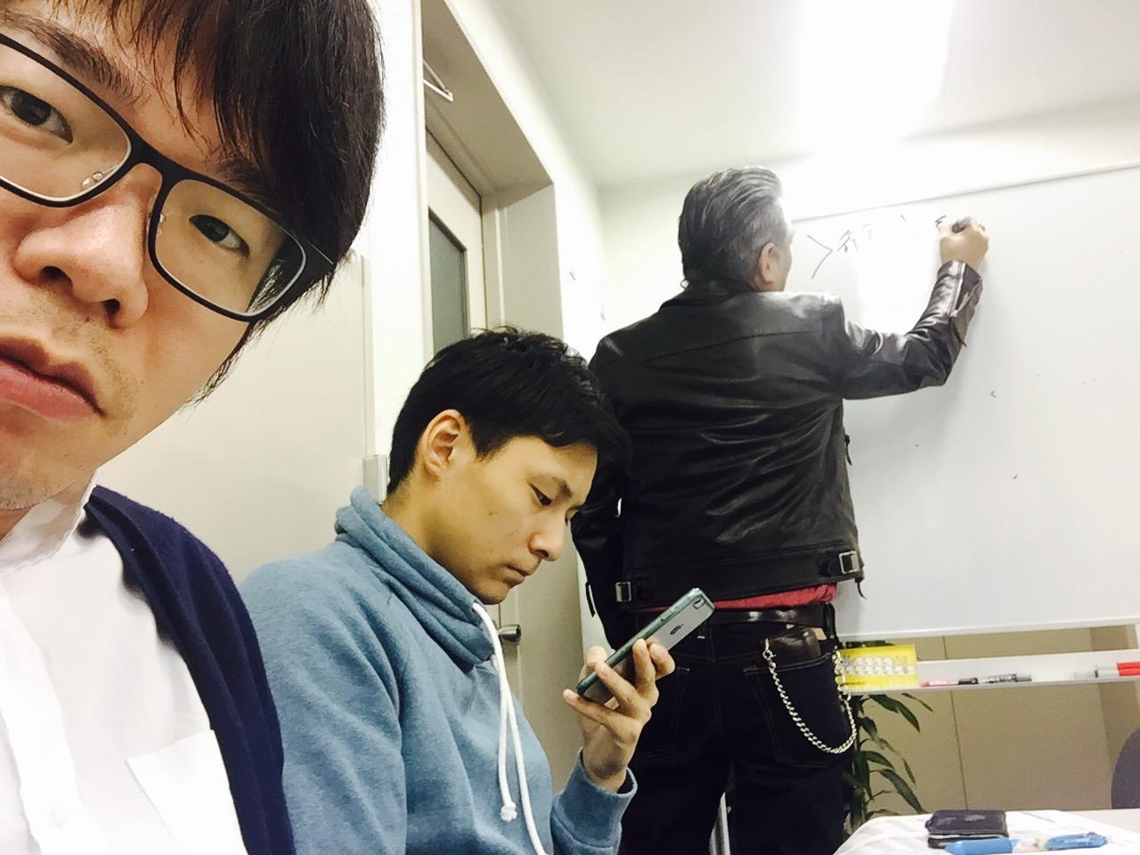 退屈そうな古川君と真剣な坪井さんと私。